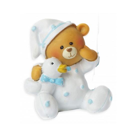 Baby beer spaarpot blauw