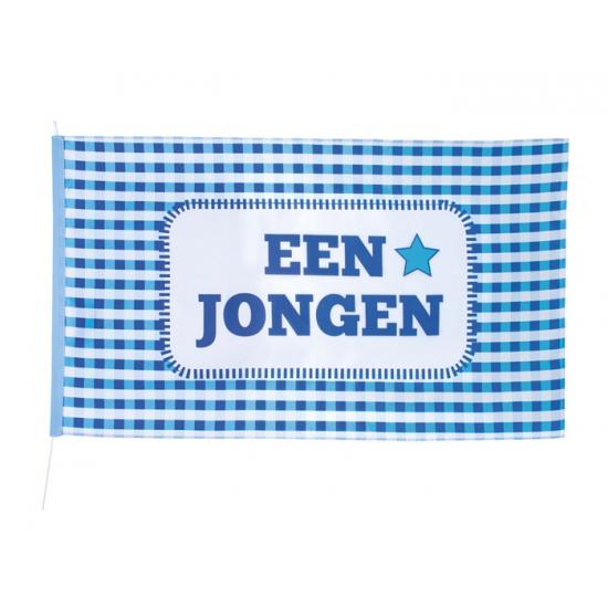 Blauwe geboorte vlag jongen 90 x 150 cm