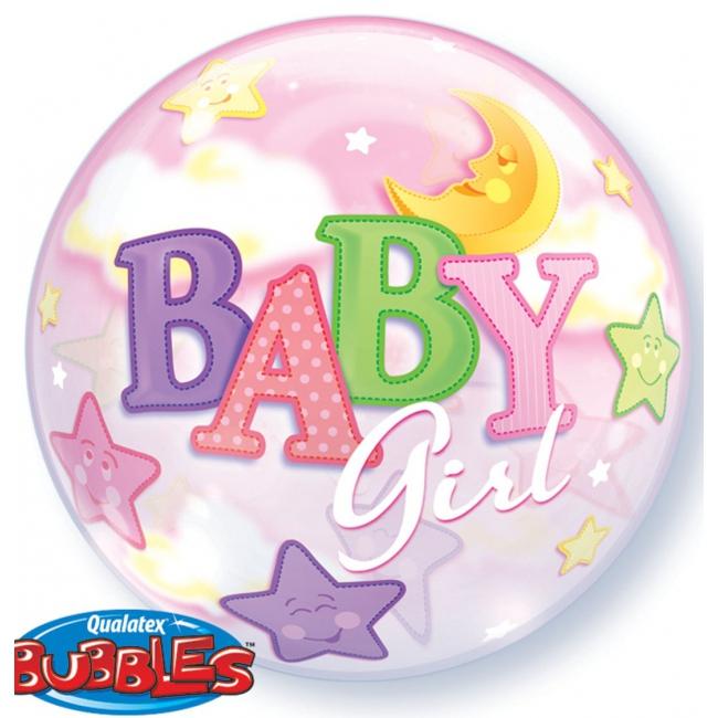 Helium ballon voor de geboorte van een meisje