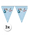3x vlaggenlijn geboorte jongen