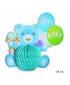 Baby blauw beertje tafeldecoratie