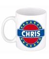 Chris naam koffie mok beker 300 ml