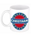 Christiaan naam koffie mok beker 300 ml