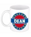 Dean naam koffie mok beker 300 ml