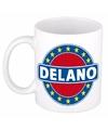 Delano naam koffie mok beker 300 ml