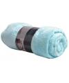 Fleece plaid 150 x 200 cm blauw