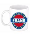 Frank naam koffie mok beker 300 ml