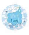 Gebaksbordjes geboorte jongen 8 stuks