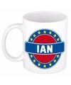 Ian naam koffie mok beker 300 ml