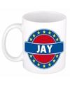 Jay naam koffie mok beker 300 ml