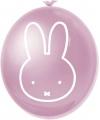 Roze nijntje ballonnen 6 stuks