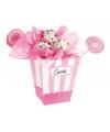 Roze snoepbakjes 4 stuks