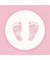 Servetten geboorte meisje roze wit 3 laags 20 stuks