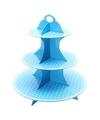Etagere blauw karton 40 cm