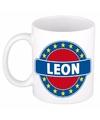 Leon naam koffie mok beker 300 ml