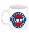 Lukas naam koffie mok beker 300 ml