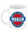 Merijn naam koffie mok beker 300 ml