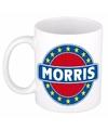 Morris naam koffie mok beker 300 ml