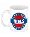 Niels naam koffie mok beker 300 ml