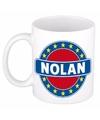 Nolan naam koffie mok beker 300 ml