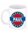 Paul naam koffie mok beker 300 ml