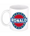 Ronald naam koffie mok beker 300 ml