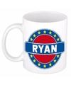 Ryan naam koffie mok beker 300 ml