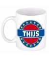 Thijs naam koffie mok beker 300 ml