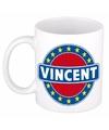 Vincent naam koffie mok beker 300 ml
