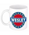 Wesley naam koffie mok beker 300 ml